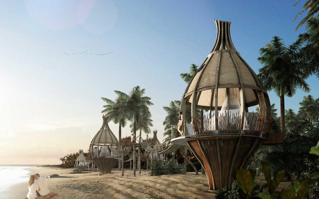 Guests will stay in 'Human Cocoons' that are designed allow inhabitants to experience the calming sound of the jungle´s orchestra and to fully connect with nature