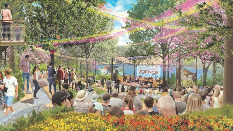 Conceptual artwork of the open-air amphitheatre