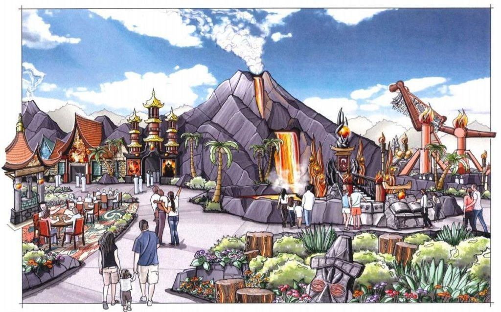 An artist's impression of the Lost Island Themepark
