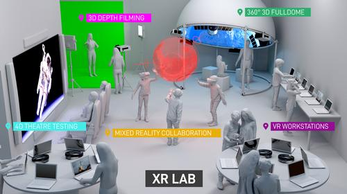 A range of 3D and 4D technology areas complete the XR Lab / National Space Centre