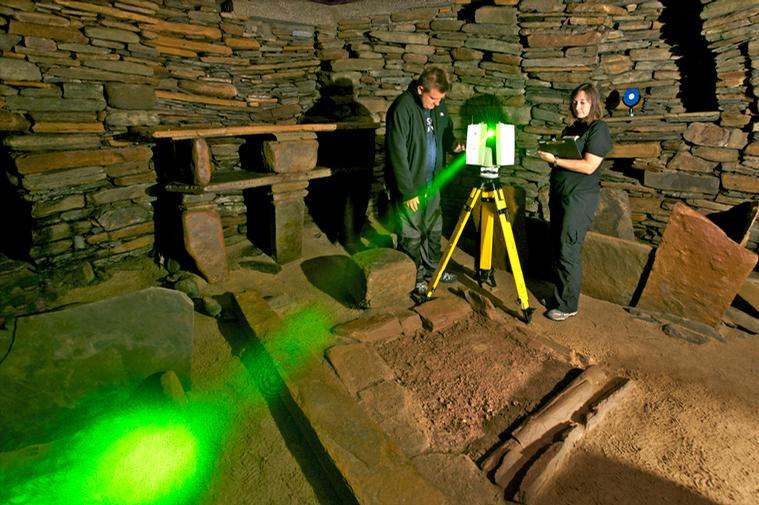 3D laser scanning at Skara Brae neolithic settlement, Orkneys / The Centre for Digital Documentation and Visualisation LLP