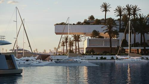 Facilities will include a marina, and entertainment and commercial/retail amenities / Oppenheim Architecture