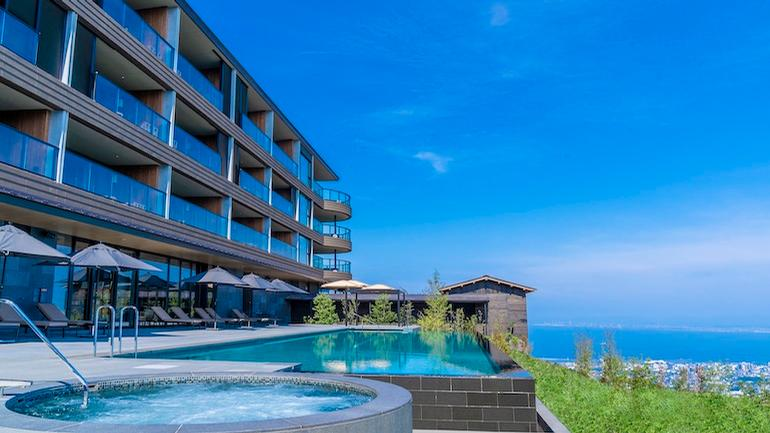 The ANA InterContinental Beppu Resort & Spa is the region's first international luxury resort, and offers two large outdoor onsens, or traditional Japanese hot springs