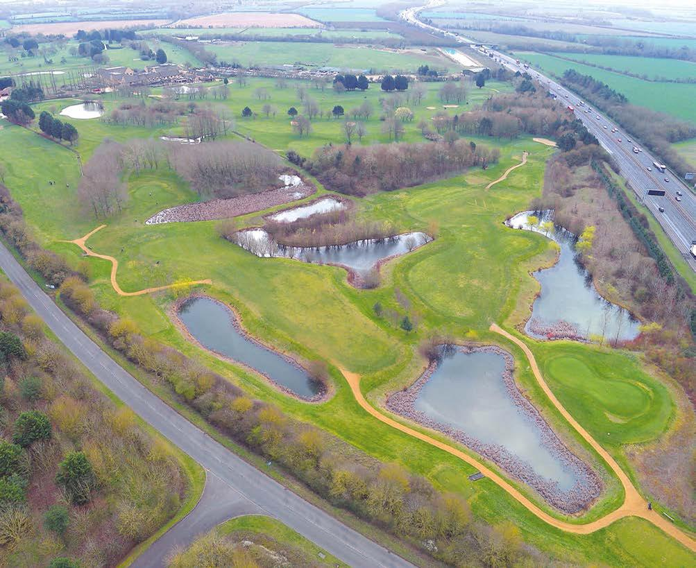 The proposed site is currently home to the Bicester Golf Course, half of which will be redeveloped to accommodate the 186,000sq m (2,000,000sq ft) development / Great Wolf