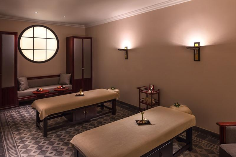 The six treatment rooms are decorated with eclectic details of the great 1930s Art Deco era