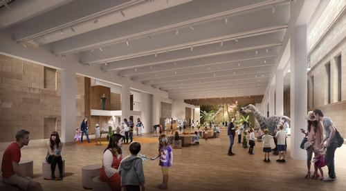 The Grand Hall at the Australian Museum, in the artist's impressions / Australian Museum