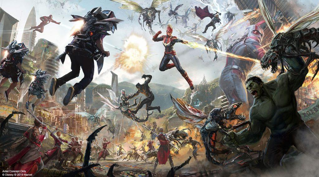 A raft of super hero characters will come to life at the Avengers Campus