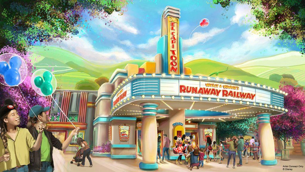 The El CapiToon Theater is the setting for <i>Mickey & Minnie's Runaway Railway</i>