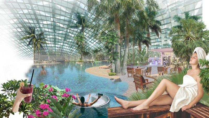A high quality wellness and beauty spa would also be on site