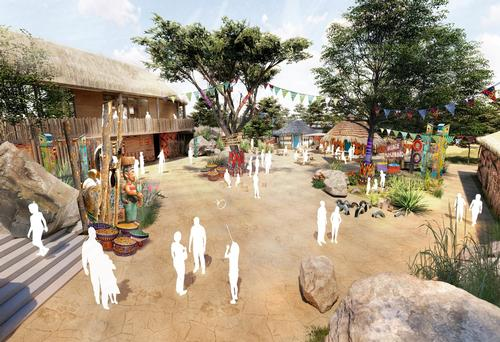 Existing buildings will be transformed into 28 lodges,14 tents and a restaurant, which gives visitors a view of the new area