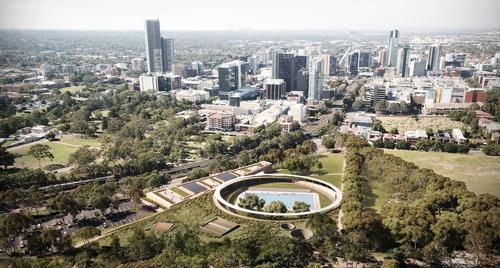 The centre is to be built in the Western Australian city of Parramatta / Andrew Burges, Grimshaw and McGregor Coxall