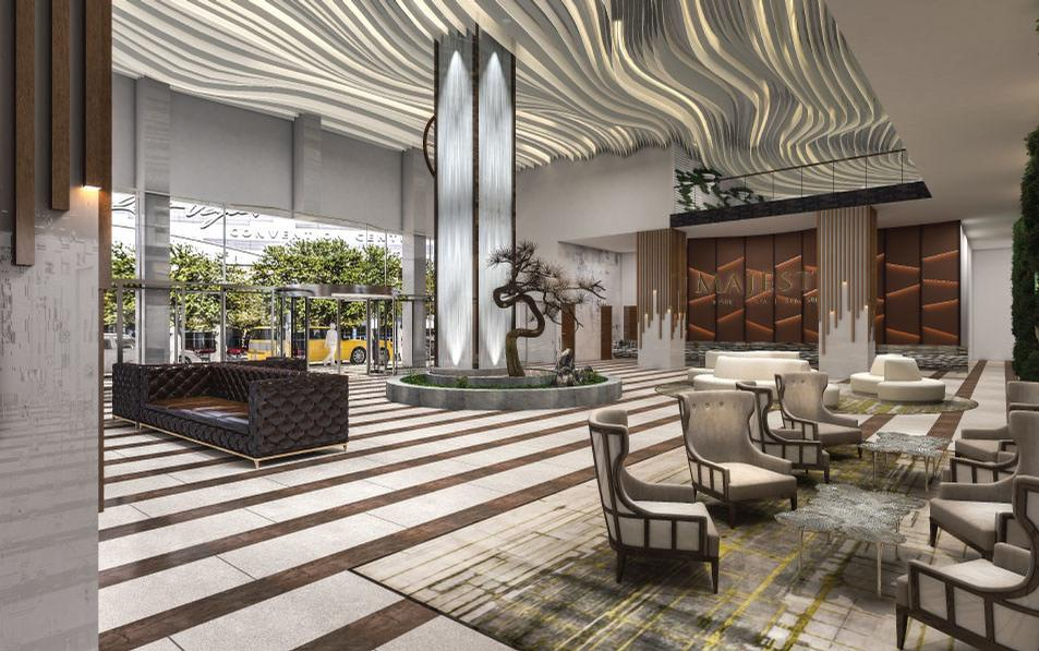 The five-star, non-gaming, 720-room, all-suite ultra-luxury branded resort will sit on the over six-acre site formerly occupied by the Clarion Hotel