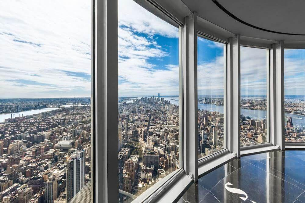 It provides views across New York from 1,250ft (381m) up
