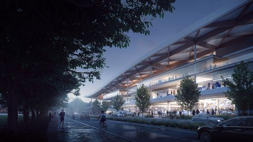 The redeveloped facility will include a variety of restaurants, cafes, bars and food stalls / 3XN Architects