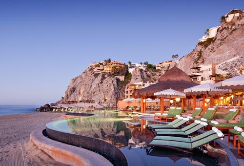 The resort is situated at the tip of Mexico's Baja California Peninsula / Hilton