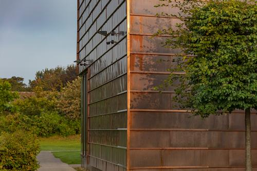 Copper cladding was also used to match the original building / Tamara Shiner