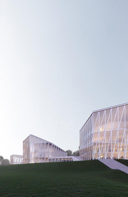 The larger concert hall will accommodate up to 1,700 people and the smaller hall 500 / Arquivio Architects