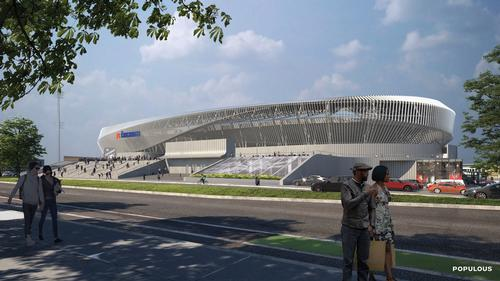 Construction of the stadium will cost $250m (€229m, £203m) / Populous