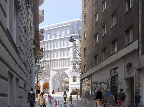The development will establish new urban connections and public spaces / OMA