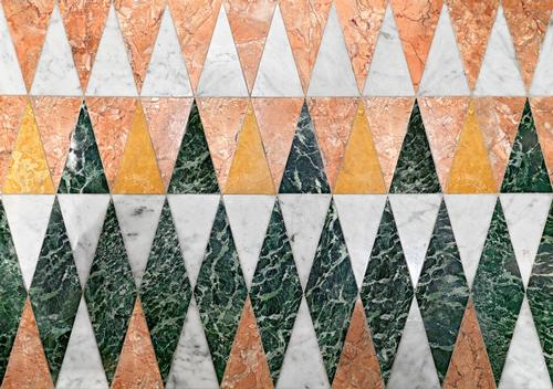 Rhombuses and half rhombuses are used in the design of the floor / Matteo Piazza