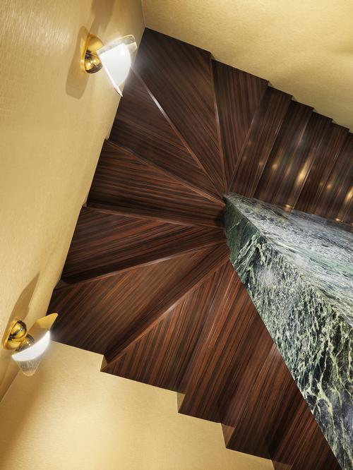 There is a rosewood staircaise / Matteo Piazza