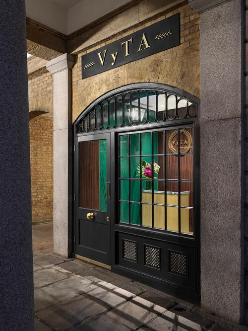 The entrance to the restaurant is on the ground level of Covent Garden Market / Matteo Piazza