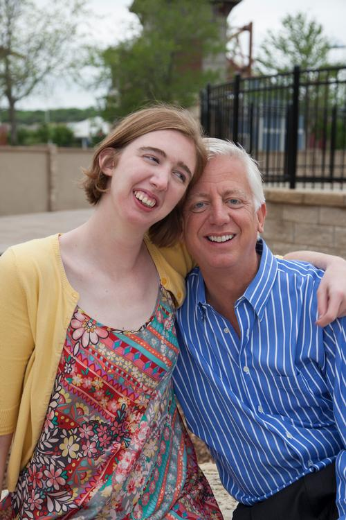 Gordon Hartman and his daughter Morgan, who provided the inspiration for the new development / Morgan's Wonderland