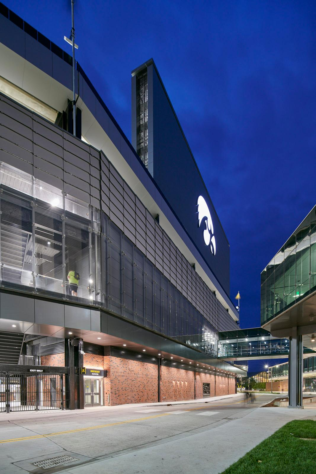 The renovation was designed by Neumann Monson Architects and HNTB Sports Architecture / Cameron Campbell