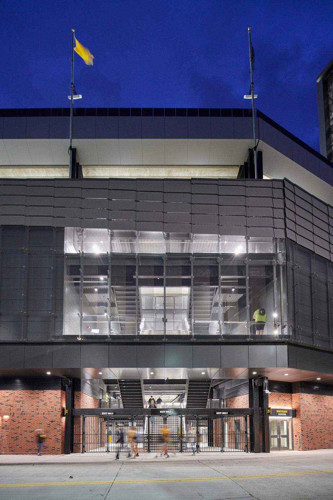 The renovation was carried out on the North End Zone of the stadium / Cameron Campbell