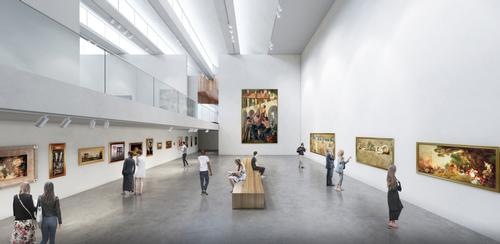 The aim of the expansion was to make the museum more cohesive and increase public access / Brooks + Scarpa & KMF Architects