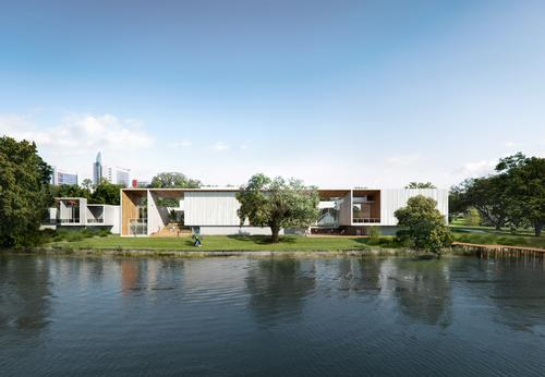 The expanded museum will cover 40,000sq ft (3,700sq m) / Brooks + Scarpa & KMF Architects
