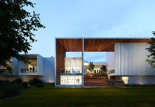 The are a variety of different types of spaces / Brooks + Scarpa & KMF Architects