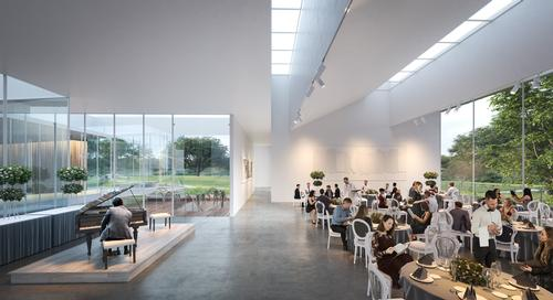 There are indoor and outdoor multipurpose spaces for the likes of weddings, education events and conferences / Brooks + Scarpa & KMF Architects