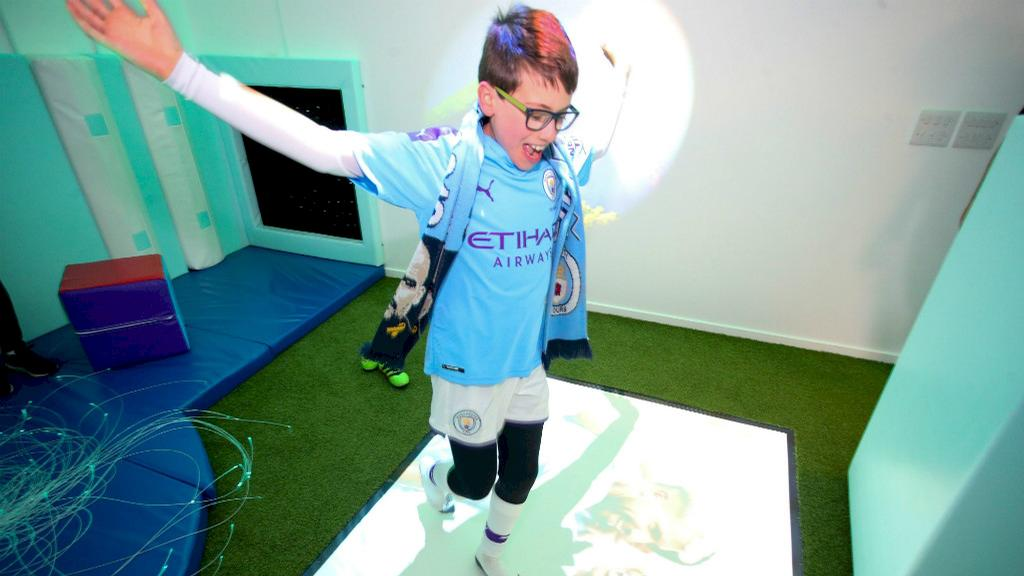The sensory room offers young fans with sensory issues a safe and controlled environment to watch the game