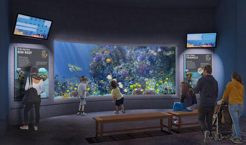 The indoor galleries will be remodelled as part of the work / Oregon Coast Aquarium