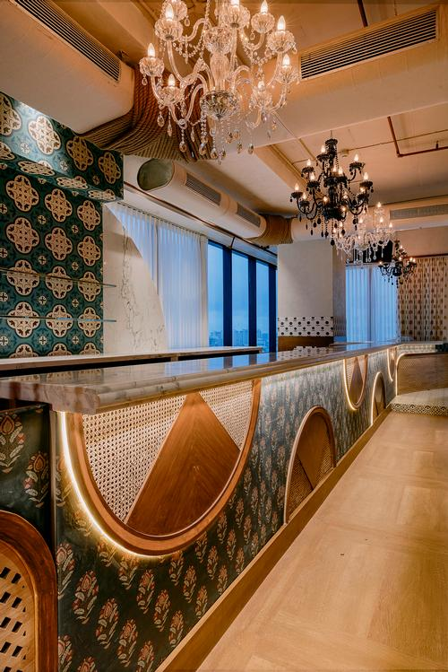 Chandeliers help to give the restaurant a sense of occasion / Darshan Savla