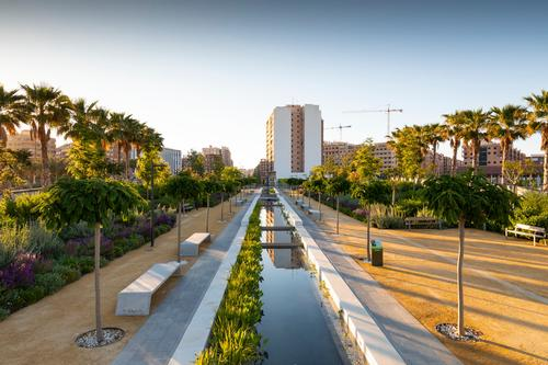 A canal leads visitors into the heart of the park / Richard Bloom