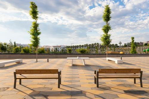 The park is designed to provide a new focal green space for a range of age groups / Richard Bloom