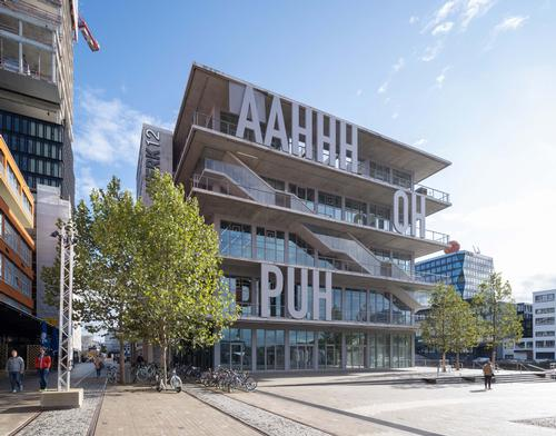 The mixed-use building covers 7,700sq m (83,000sq ft) / MVRDV
