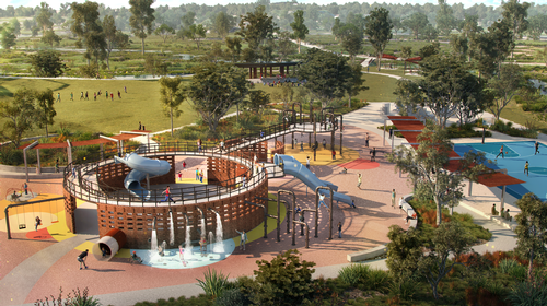 The development will have a large adventure play area for children / Oxley Creek Transformation