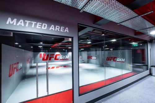 There are soft turf and matted training areas / UFC Gym