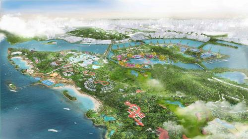 The Sentosa-Brani Master Plan is part of a wider scheme to rejuvenate Singapore's Greater Southern Waterfront / Grant Associates & WilkinsonEyre