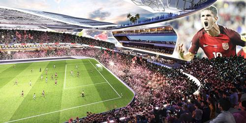 Designs show a bowl-style stadium with seating around the entirety of its interior / Inter Miami CF