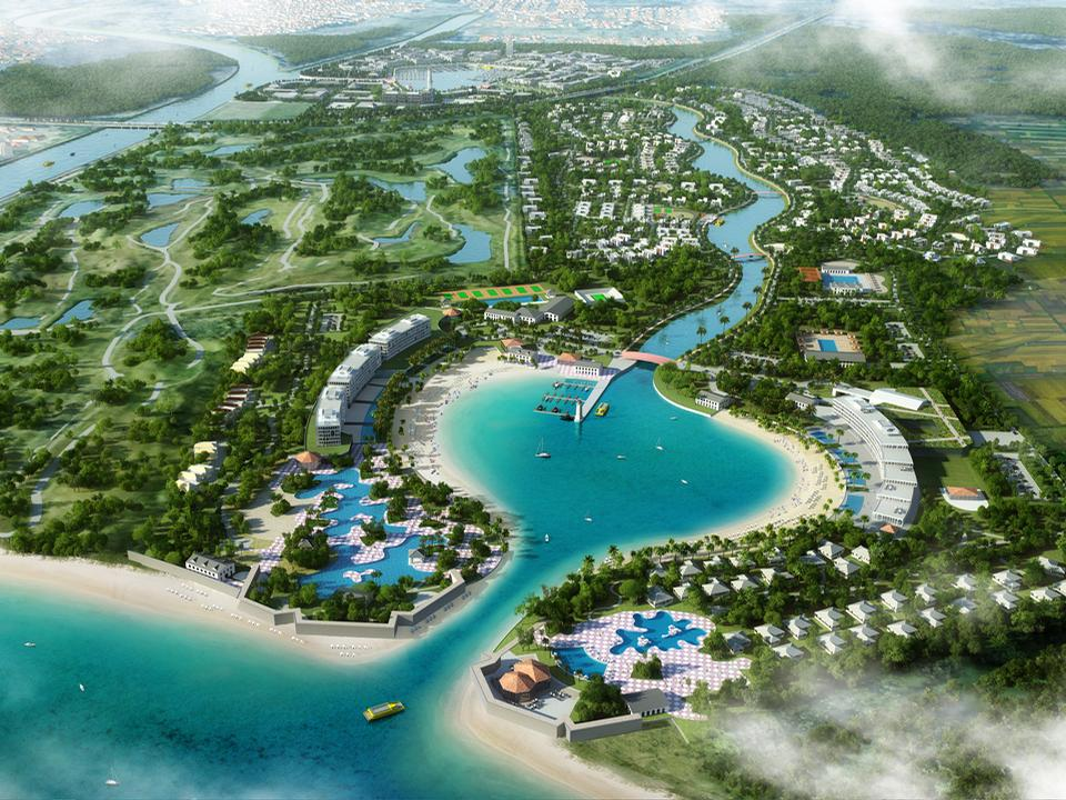 Ponce Paradise will combine a new town with a wellness offering, a canal quarter, a beachfront and a preservation area / Winstanley Architects & Planners