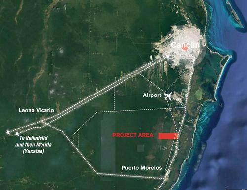 Smart Forest City Cancun is located south of Cancun / Stefano Boeri Architetti