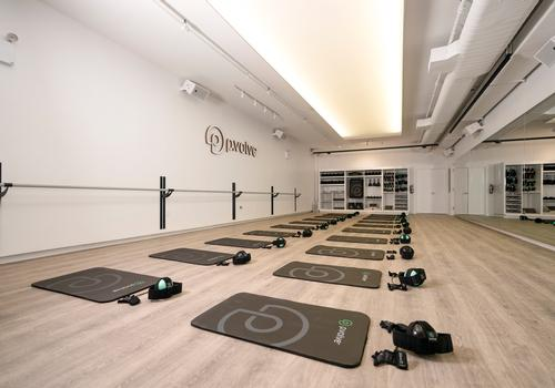 The main exercise space has an ergonomic floor to reduce the pressure on joints when people are training / P.volve