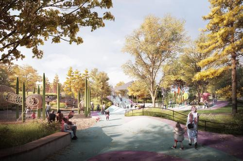 A dynamic two-acre play area will be a memorable place for children of all ages / The Obama Presidential Center