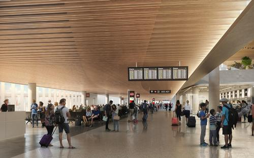 The first phase for handling up to 10 million passengers a year is scheduled to be completed by 2026 / Zaha Hadid Architects / Cox Architecture