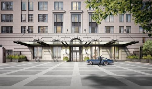 A private motor court will provide space for residents to pack and unpack their cars / Robert A.M. Stern Architects