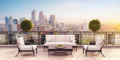 Every unit will have a private terrace providing a minimum of 196sq ft (18sq m) of outdoor space / Robert A.M. Stern Architects